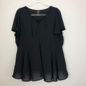 Torrid Black Blouse Size 2X